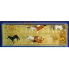 Grupo ocho caballos Z Preiser 8578 plástico