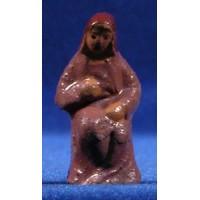 Pastora sentada 5 cm barro pintado