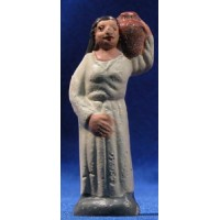 Pastora con jarra 7 cm barro pintado