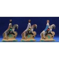 Reyes a caballo 5 cm yeso