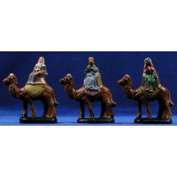 Reyes a camello 6 cm barro pintado