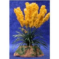 Plumero amarillo 6 cm metal