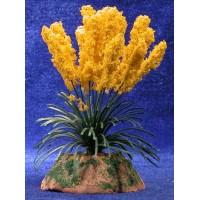 Plumero amarillo 13 cm metal