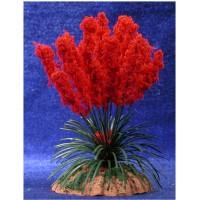 Plumero rojo 6 cm metal