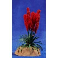 Plumero rojo 8 cm metal