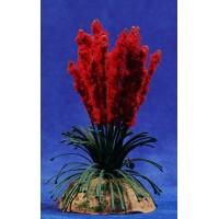 Plumero rojo 13 cm metal