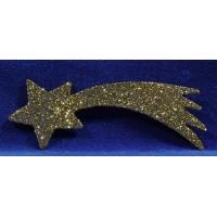 Estrella oro 15 cm plástico