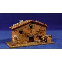 Casa hmasia con carreta 17x8x9 cm corcho Plana