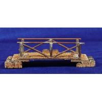 Puente plano 18 cm madera