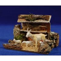 Corral cabras 8 cm corcho y plástico
