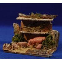 Corral cerdos 8 cm corcho y plástico