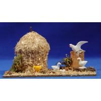 Corral paloma y pajar 8 cm corcho y plástico