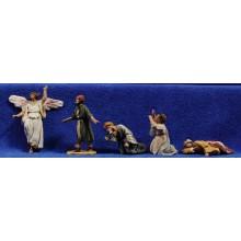 Anunciata 4 cm barro pintado De Francesco
