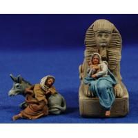 Descanso huida a Egipto 4 cm barro pintado De Francesco