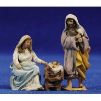 Nacimiento modelo A 4 cm barro pintado De Francesco