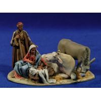 Nacimiento estirados M2 8 cm barro pintado De Francesco