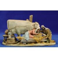 Nacimiento modelo 1 10 cm barro pintado De Francesco
