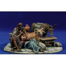 Nacimiento modelo 2 10 cm barro pintado De Francesco