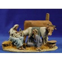 Nacimiento modelo 3 10 cm barro pintado De Francesco