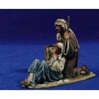 Nacimiento sin buey ni mula modelo 1 14 cm barro pintado De Francesco
