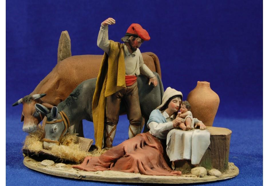Nacimiento catalan M2 10 cm barro pintado De Francesco