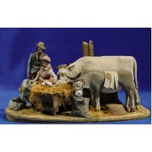 Nacimiento popular modelo 1 10 cm barro pintado De Francesco