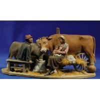 Nacimiento popular modelo 2 10 cm barro pintado De Francesco