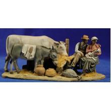 Nacimiento popular modelo 3 10 cm barro pintado De Francesco