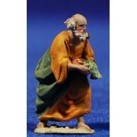 Pastor bandeja 4 cm barro pintado De Francesco