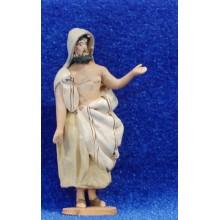 Pastor de camino 4 cm barro pintado De Francesco