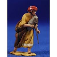 Pastor gaita 4 cm barro pintado De Francesco