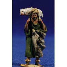 Pastor cordero hombros 4 cm barro pintado De Francesco