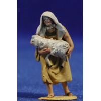 Pastor cordero brazos 4 cm barro pintado De Francesco