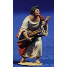 Pastor leña 4 cm barro pintado De Francesco