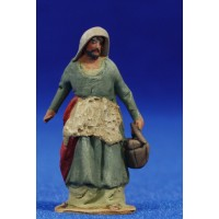 Pastor con cubo 4 cm barro pintado De Francesco