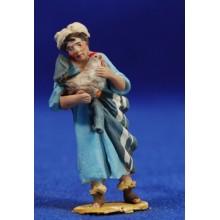Pastor gallina brazos 4 cm barro pintado De Francesco