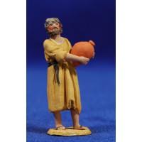 Pastor con jarra 4 cm barro pintado De Francesco