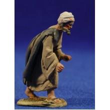 Pastor manos levantadas 5 cm barro pintado De Francesco