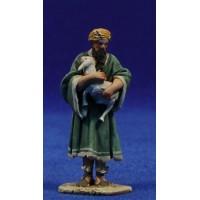 Pastor cordero brazos 5,5 cm barro pintado De Francesco