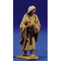 Pastora con jarra 5,5 cm barro pintado De Francesco