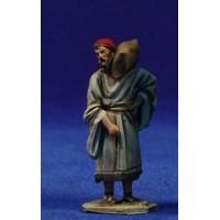 Pastor con saco 5,5 cm barro pintado De Francesco