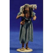 Pastor cordero en hombros 8 cm barro pintado De Francesco