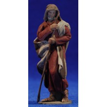 Pastor manta 8 cm barro pintado De Francesco