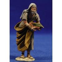 Pastor bandeja panes 8 cm barro pintado De Francesco