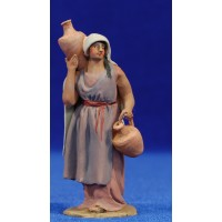 Pastora jarras 8 cm barro pintado De Francesco