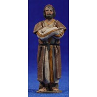 Pastor mirando m2 8 cm barro pintado De Francesco