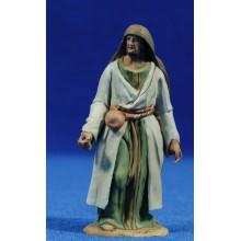 Pastor calabaza 8 cm barro pintado De Francesco