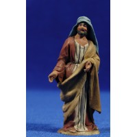 Pastor de pie 8 cm barro pintado De Francesco
