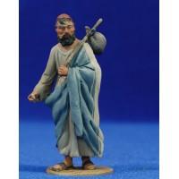 Pastor saco espalda m2 8 cm barro pintado De Francesco