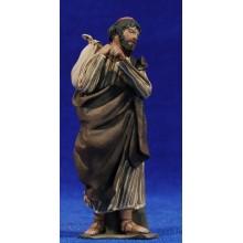 Pastor saco espalda 10 cm barro pintado De Francesco